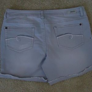 JUSTICE Gray Simply Low Jean Shorts 16
